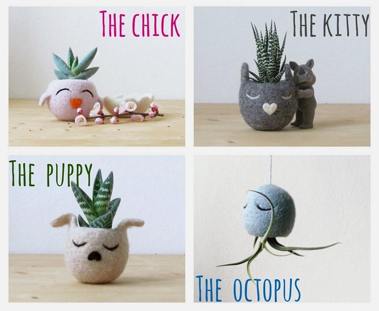 animal-felt-planters-3