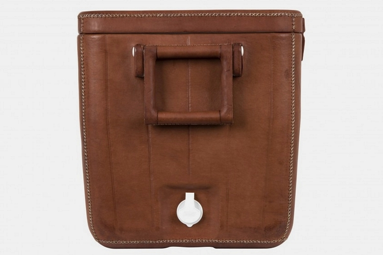 Jayson Home Brown Leather Coolers