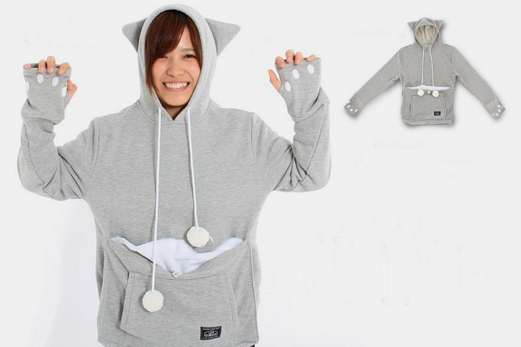 If you're the kind of person who will wear a hoodie with cat ears and paws, we reckon you're the type of person who won't mind wearing a hoodie with a