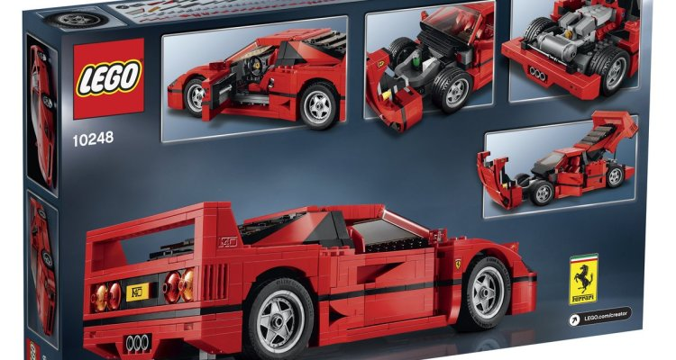 lego creator 10248 ferrari f40 set box back. Black Bedroom Furniture Sets. Home Design Ideas