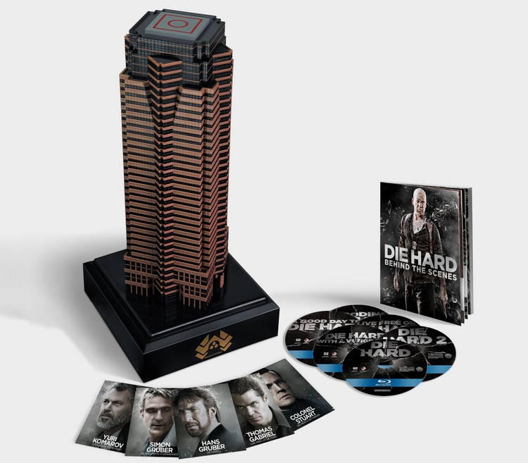 New die hard box set comes inside a mini replica of the nakatomi plaza