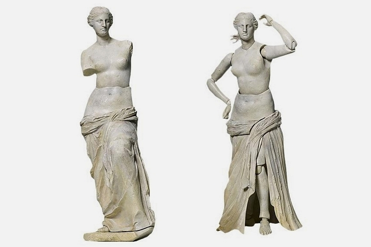 Venus de milo grows posable arms in new table museum action figure