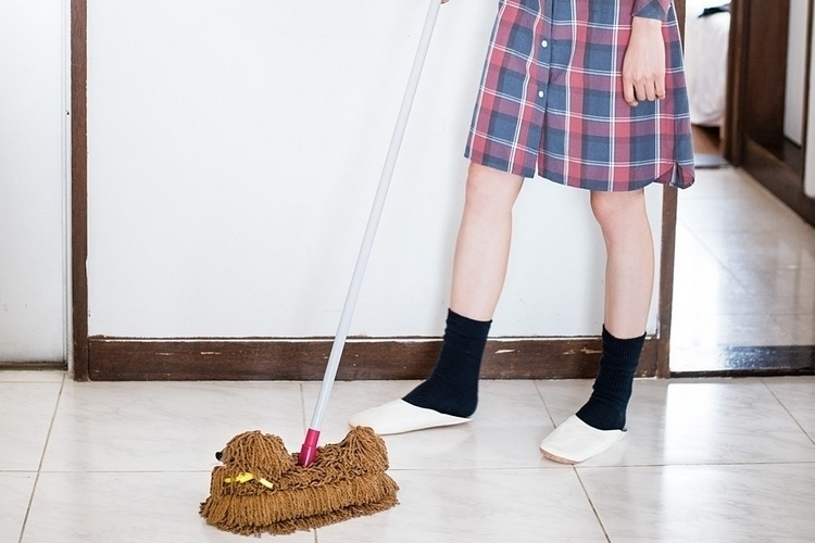 how to clean dog pee off floor