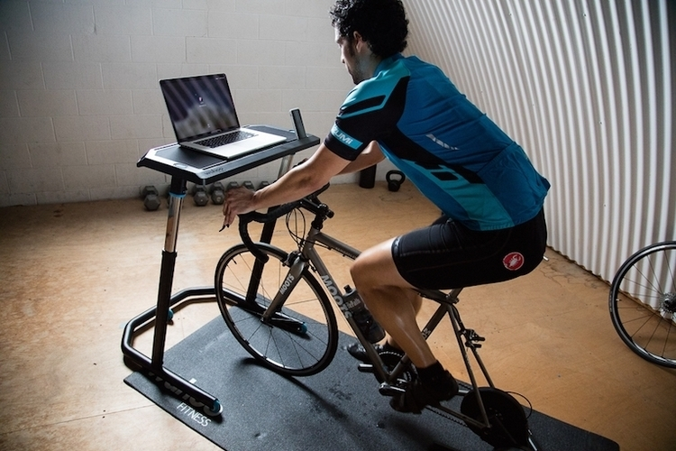 Wahoo Fitness Bike Desk 1