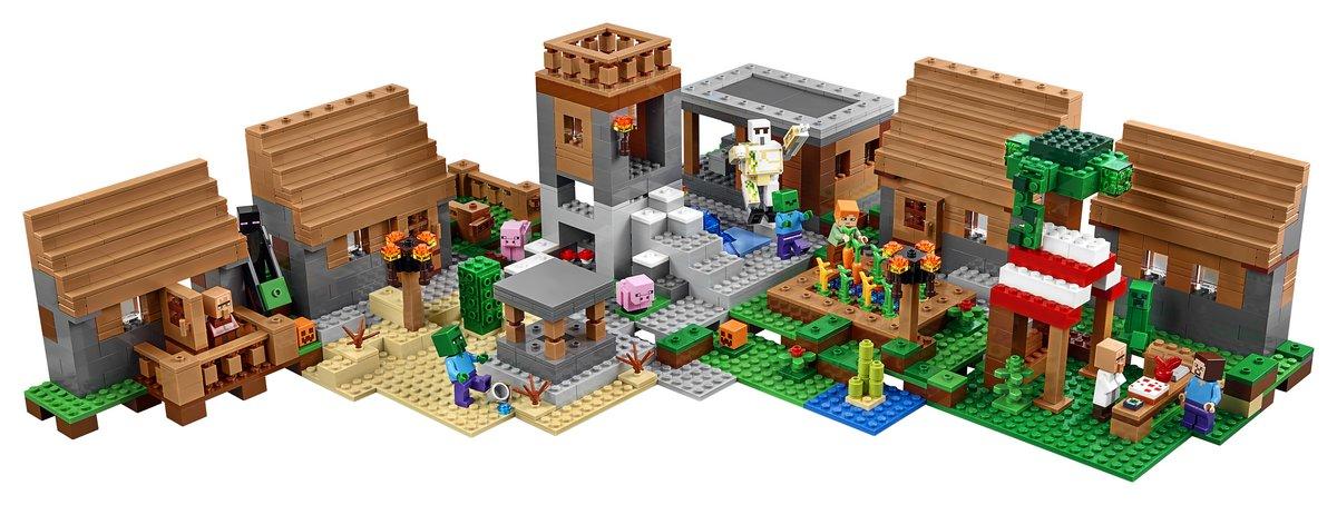 lego-minecraft-the-village-set