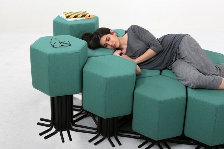 Modern Design Floor Sofa Bed 5 Position Adjustable Sofa