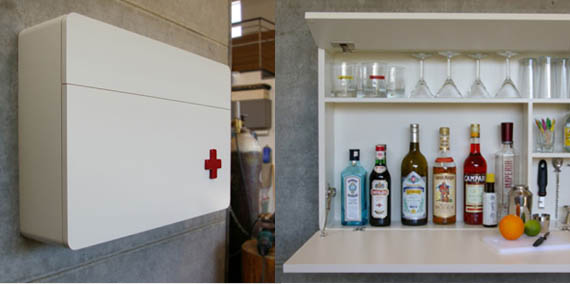 Urbancase Melli Compact Lounge Medicine Cabinet For Your Alcohol Fix