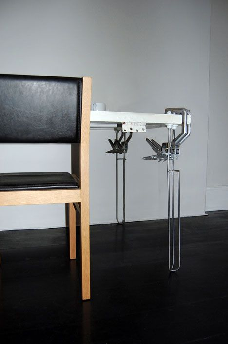 Re Vive Legs Clamps Onto Flat Materials Turns Them Into Tables