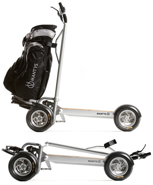 Mantys Is A Foldable Golf Cart For One