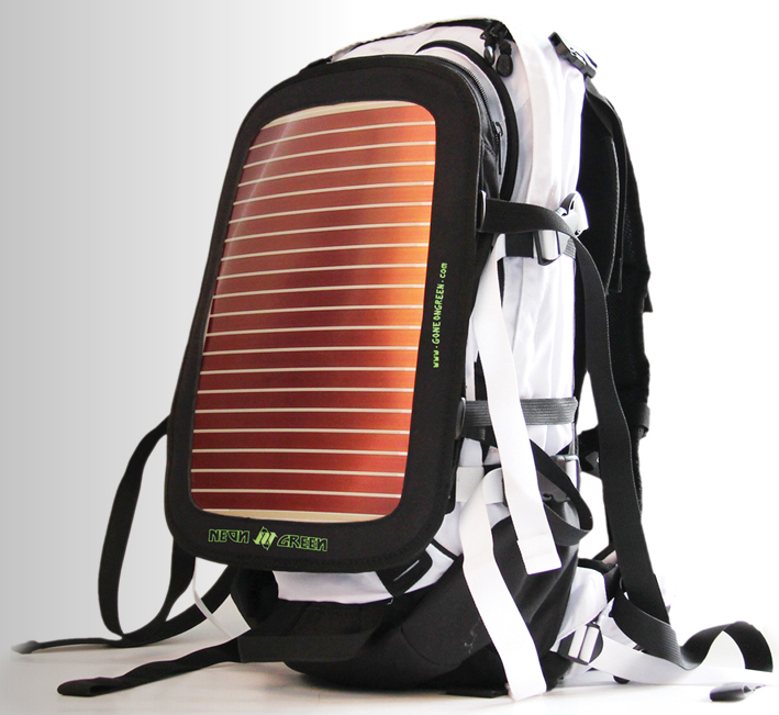 ad19e440e8 Bags with solar panels aren t anything new. Until Neon Green s Soular  Powers Back-Up Packs