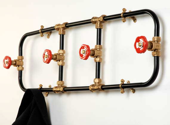 pipework series coat rack hangs your