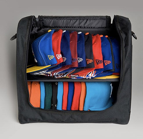 42bb59d3df Like to travel with two dozen of your favorite ball caps in tow  Not a  problem with New Era s 24-Pack Cap Carrier