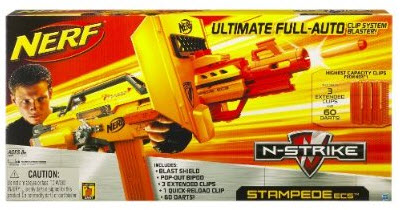Fully Automatic Nerf Stampede Ecs 50 Shoots 18 Darts Per