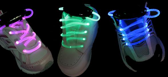 LED Light-Up Shoelaces Will Illuminate