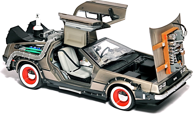 Household Outdoor Lightning Rod Png Html: Delorean Hard Drive Car: A Back To The Future HDD Enclosure