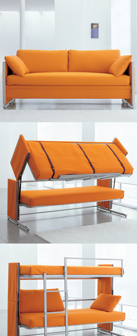 Incredible Doc Is A Sofa That Turns Into A Bunk Bed Ibusinesslaw Wood Chair Design Ideas Ibusinesslaworg