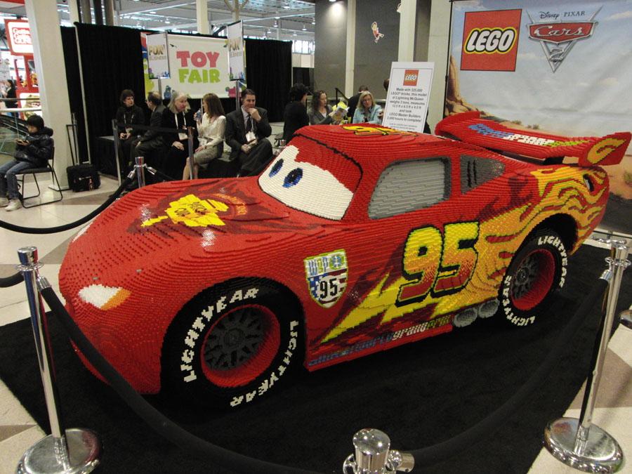 Lightning Mcqueen Made With 325000 Lego Bricks