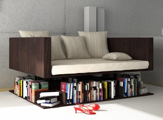 Ransa Sofa Floats Over Your Library Of