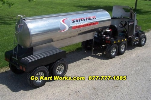 Go Karts Turned Into Tractor Trailers