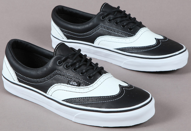 9ee56f713bdc But we doubt full broque dress shoes will look well with the rest of your  skateboarder ensemble. With the Vans Leather Era Wingtip