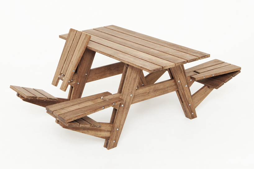 Awesome Another Picnic Tables Seats Can Convert Into Recliners Evergreenethics Interior Chair Design Evergreenethicsorg