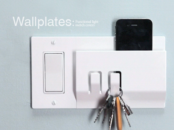 Wallplates Add Hooks Right Next To Your Light Switch