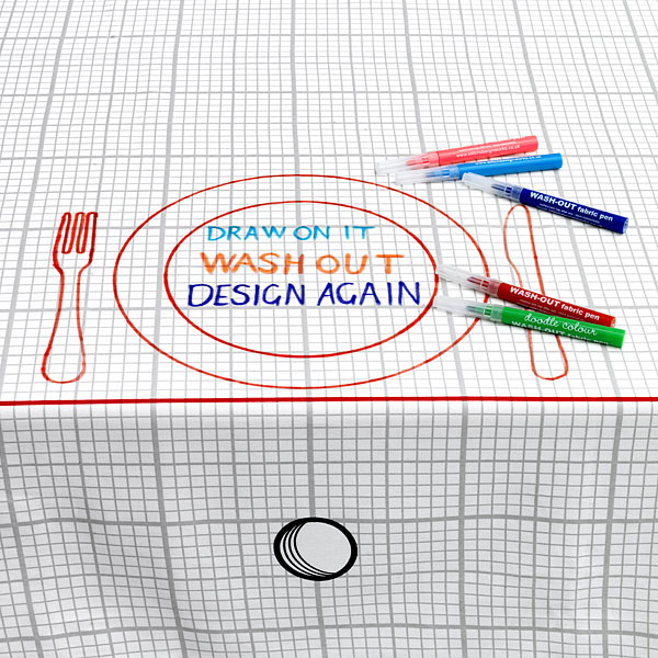 Doodle Tablecloth Is A Drawing Friendly Cover Spread For The