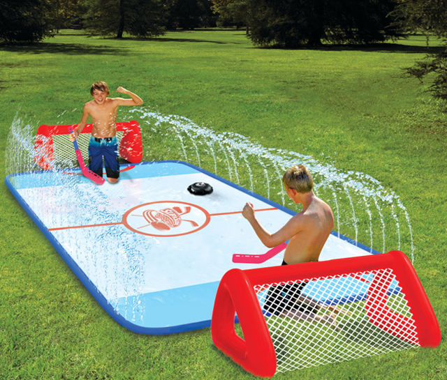 Backyard Sports: Water-Soaked Knee Hockey Rink