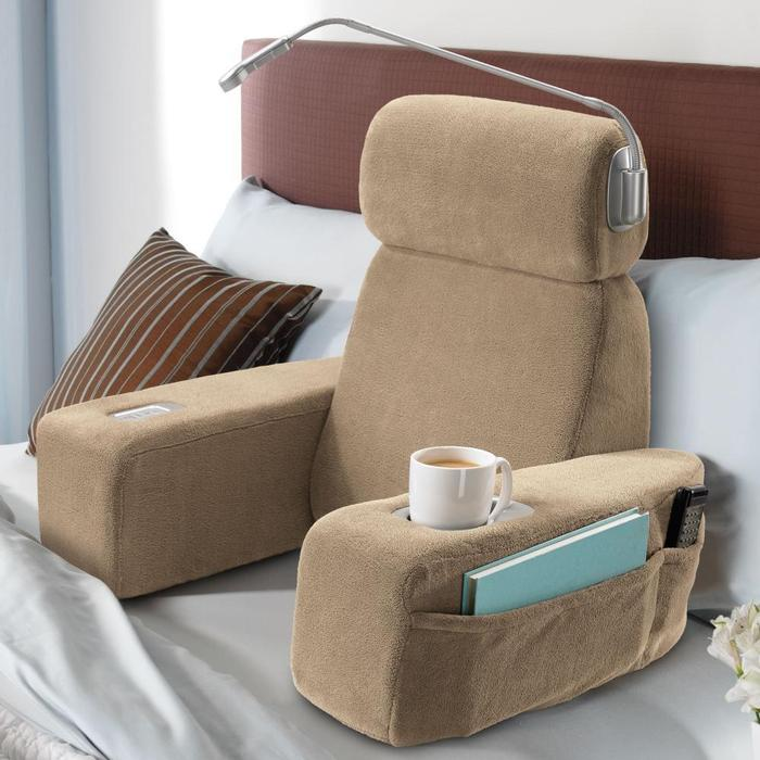 Strange Nap Massaging Bed Rest Turns Your Bed Into An Armchair Short Links Chair Design For Home Short Linksinfo