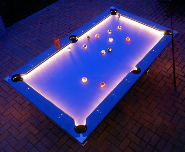 Outdoor Pool Table Features Built In