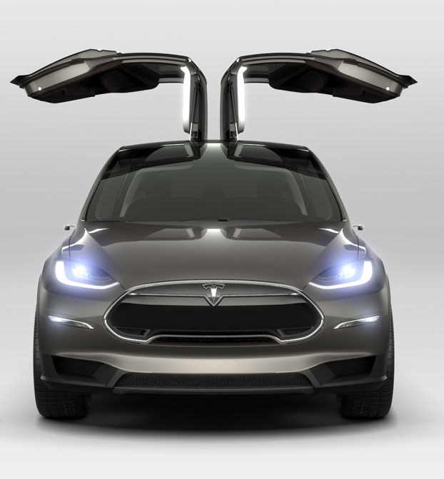 Tesla Model X Electric SUV Seats Seven, 0-60 In Less Than