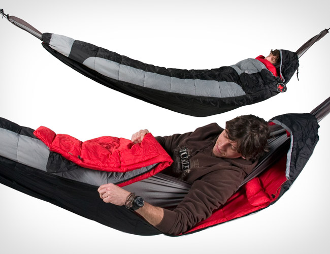 Hammock Compatible Sleeping Bag Covers The Entire