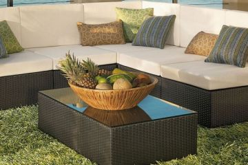 Artificial Grass Carpet Under Furniture