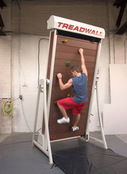 Treadwall is a treadmill for rock climbers