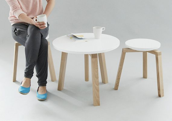 Excellent Takka Stool Set Features A Height Adjustable Table Ocoug Best Dining Table And Chair Ideas Images Ocougorg