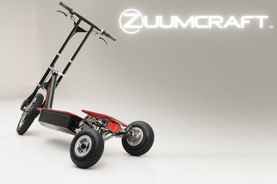 Zuumer Electric Scooter Leans, Looks Like One Fun Ride