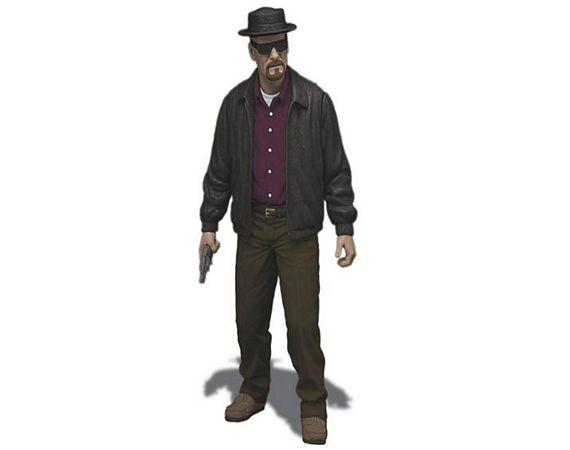 Exclusive Breaking Bad Walter White Heisenberg Mezco Figure Meth Action Figure 6