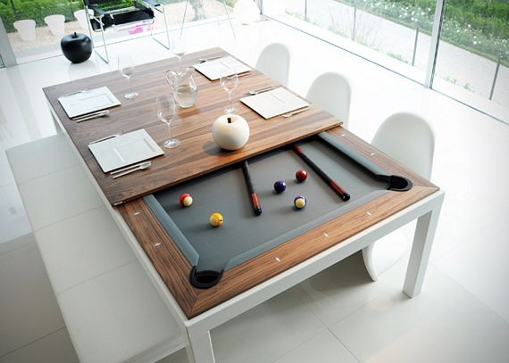 This Cly Dining Table Hides A Pool Underneath