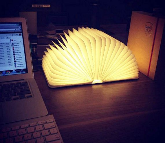 Lumio Lamp Folds Into A Book Opens Up Like A Glowing
