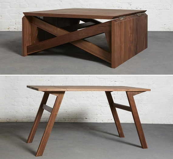 Awesome Design Mk1 Coffee Table Folds Out Into A Dining Table