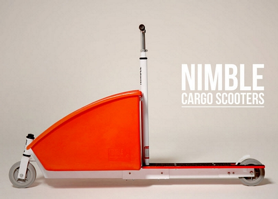 Nimble Is A Cargo Hauling Kick Scooter Capable Of Carrying 300 Pound Loads