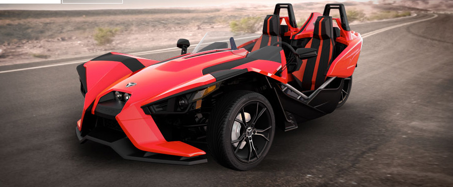 polaris slingshot this exotic looking three wheeled beauty startsset for availability in 2015, pricing for the polaris slingshot