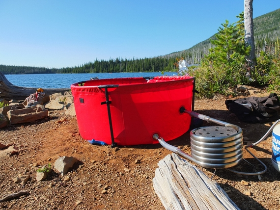 Nomad Collapsible Hot Tub Makes It Easy To Soak On A Warm