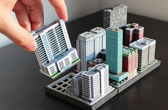 Build A Miniature City With 3D-Printed Ittyblox Buildings
