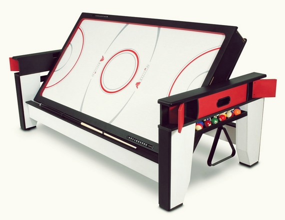 A Rotating Air Hockey And Billiards Table For Your Game Room