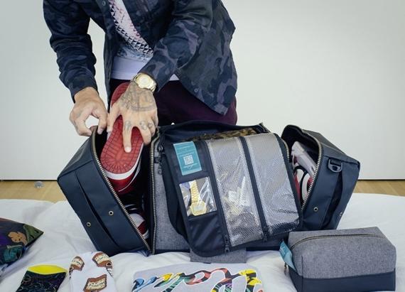 Shrine Sneaker Duffel Is A Travel Bag