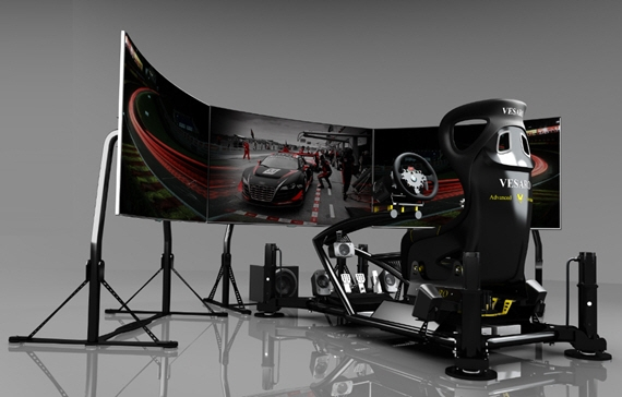 Vesaro 195 Gaming Cockpit Boasts 1:1 Scale Cars Onscreen