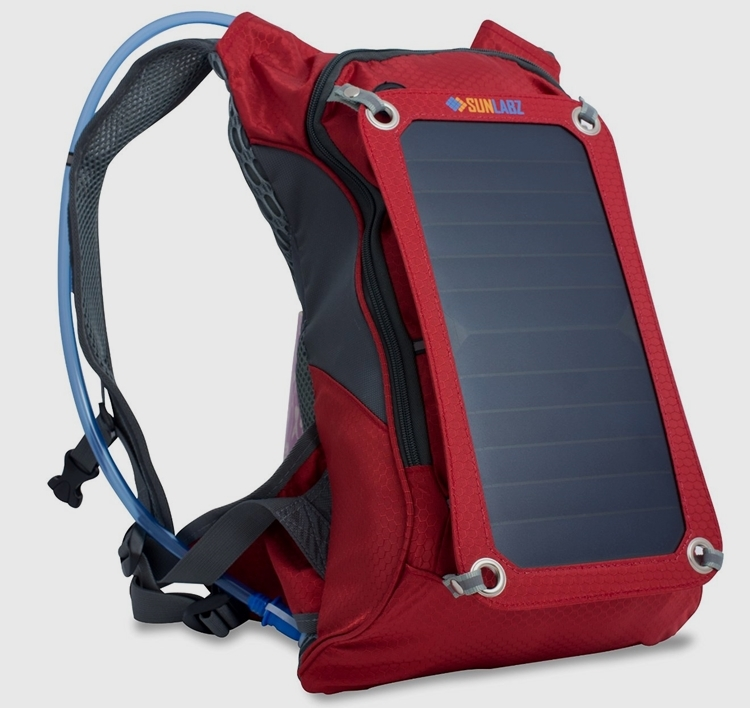 ec402fb8ce SunLabz Solar Charger Backpack Also Comes With Hydration Pack