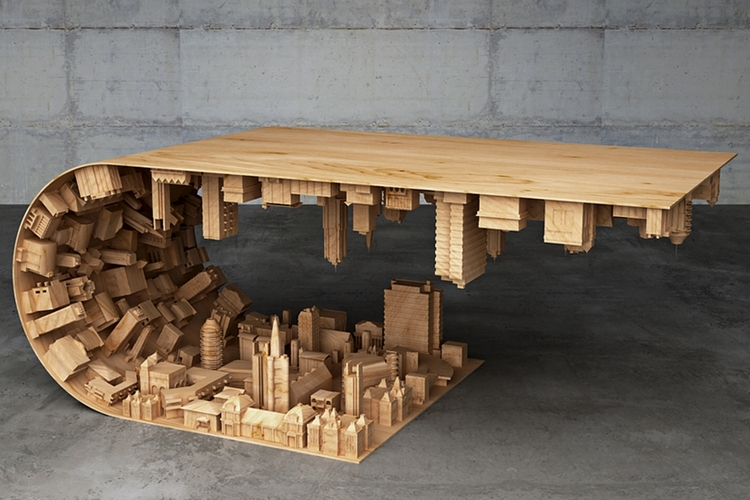If You Loved Inception Ll Love This Wave City Coffee Table