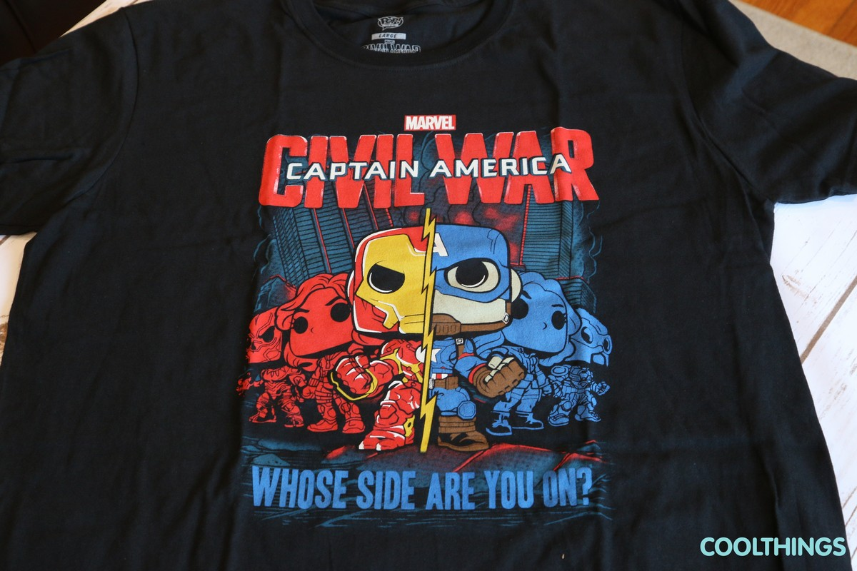 Marvel Captain America Civil War TShirt - Whose Side Are You On?